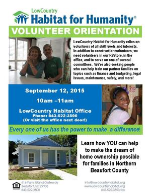 VolunteerOrientationPosterSeptember