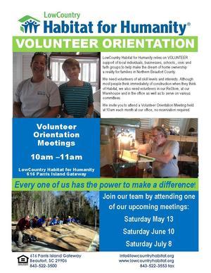 2017 VolunteerOrientationPosterMay to JulyWEB
