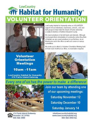 VolunteerOrientationPosterNovember December